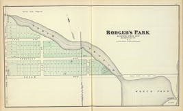 1878  map poster Rodger's Park Spring Lake Monmouth County NEW JERSEY SH... - $14.85
