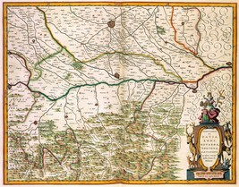 1640 antique MAP atlas poster Pavia Italy antique old atlas Novus Blaeu 190 - $14.85