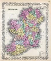1856 Colton map ATLAS poster of Ireland 73 - $14.85
