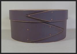 "8"" Round Plum Shaker Box cross stitch needlepoint Lone Elm Lane - $150.00"