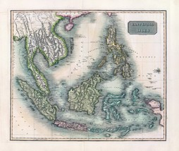 1817 THOMSON poster of antique map East India Isles 043 - $14.85