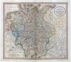 1801 antique map print CARY atlas history of Germany Austria Bohemia 22 - $14.85