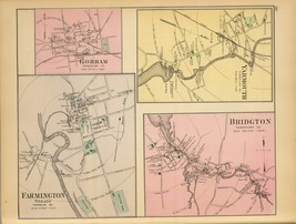 1894  map poster Fairfield Presque Isle Caribou Mechanic Falls Villae gM... - $14.85