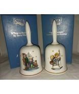 1981 and 1982 Authentic Art of Berta Hummel Bells W Germany Schmid Xmas ... - $19.99