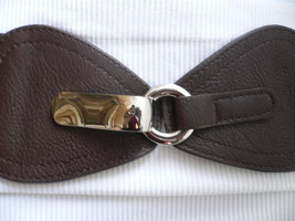 "New Women Waist Hip Elastic Dark Brown Wide Fashion Belt Front Bow  27""-... - $16.65"