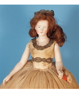 Big Bisque Half Doll, Jointed Arms, Wig, Gorgeo... - $275.00