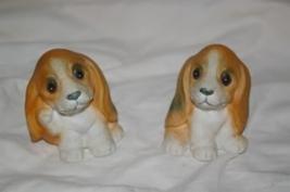 Homco Basset Hound Puppies 1407 Beagle Home Interiors - $5.99