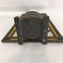 Vintage Wrought Cast Iron Stain Glass Votive Candle Holder image 5