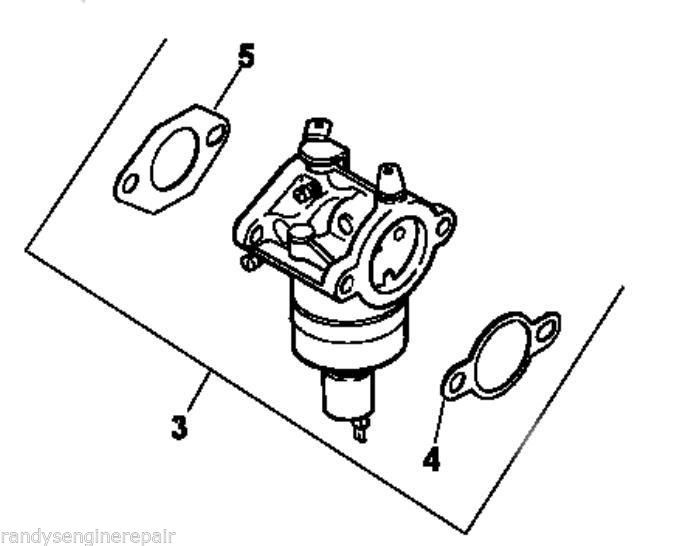 Genuine OEM Kohler KIT CARBURETOR W//GASKETS part# 12 853 147-S
