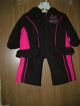 Penelope Mack Baby Girl 2 Pc Windsuit Set, Hoodie Jacket& Pants, Size 12... - $19.79