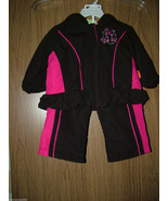 Penelope Mack Baby Girl 2 Pc Windsuit Set, Hoodie Jacket& Pants, Size 12... - $19.79