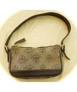 Brown Signature Dooney and Bourke Canvas Handbag small good conditon goo... - $23.00