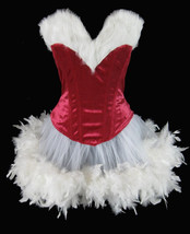Ms Santa Clause Can Can Pin Up Christmas Holiday Costume Fur & Velvet Co... - $99.99