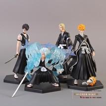 4 Pcs Toy Model PVC Action Figure Anime Bleach Bleach Kurosaki ichigo Hi... - $29.36