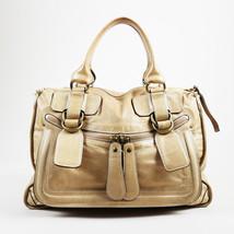 "Chloe Beige Leather Large Top Handle ""Bay"" Tote Bag - $380.00"
