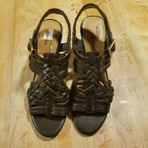 AK Anne Klein iflex Strappy Mohogony Heels Size 8 - $25.25