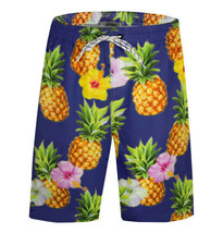 Men's APTRO Swim Trunks Summer Pineapple Beachwear Long Board Shorts - 4XL
