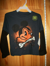 Mickey Mouse Disney Baby Clothes 3T Halloween Holiday Glow In Dark Tee S... - $14.24