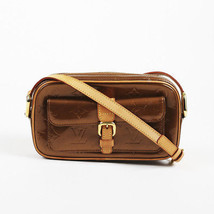 "Louis Vuitton Brown Monogram Patent Leather ""Christie MM"" Bag - $585.00"