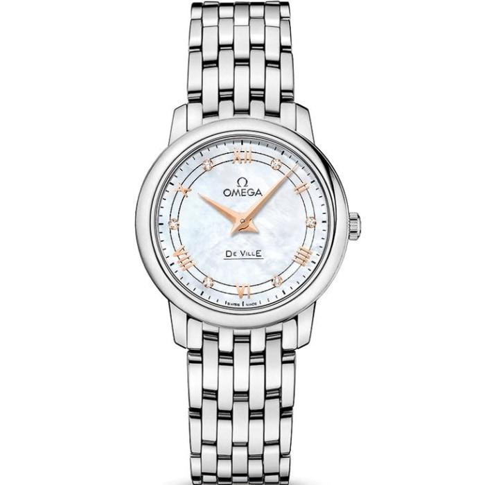 Omega 424.10.27.60.55.001 De Ville Mother of Pearl Dial Women's Watch