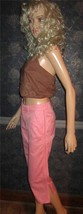 Victoria's Secret $60 Zipper Leg Pink Marisa Fit Cropped Pants 2 - $18.00