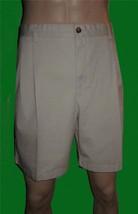 NWT Chaps $43 Men's Cotton Khaki Beige Shorts 42 - $21.00