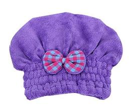 Quick-drying Towels Wipe Hair Cap Hair Drying Towels/Shower Caps,Violet