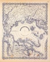 1856 Colton map ATLAS poster of Northern Hemisphere Regions 9 - $14.85