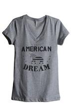 Thread Tank American Dream Unicorn Women's Relaxed V-Neck T-Shirt Tee He... - $24.99+