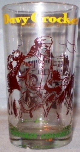 Primary image for Peanut Butter Glass Davy Crockett Went to Washington