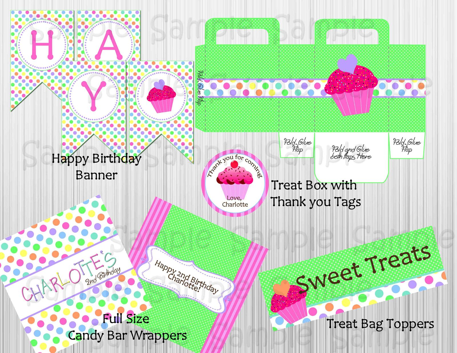 Cupcake themed birthday party package and 12 similar items for 21st birthday decoration packages