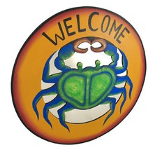 Large Blue Crab Mirrored `Welcome` Plaque [Kitchen] - $60.94