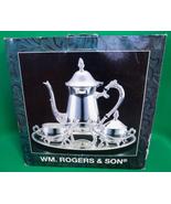 NIB WM Rogers & Son Silverplated 4 Piece Coffee Set, Model 00115002 - $12.95