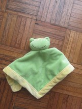 Tiddliwinks Green Gold Frog Lovey Security Blanket HTF RARE EUC NuNu - $35.15