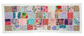 """20x60"""" Vintage Handmade Patchwork Wall Hanging Tapestry Embroidered Thro... - $34.64"""
