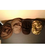 Lot of 4 Womens Cadet Hats Stretch Fit Black Camo Gray (hb11) - $23.33