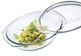 Simax Clear Oval Shaped Glass Casserole With Tight Fitting Lid – (3-Quart) - $53.18