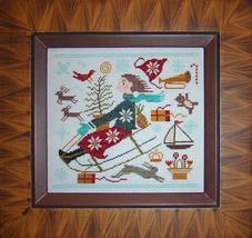 Christmas Joy Ride cross stitch chart Carriage House Samplings - $9.00
