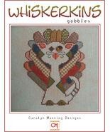 Gobbles Whiskerins cat cross stitch chart CM Designs - $7.20