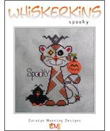 Spooky Whiskerins cat cross stitch chart CM Designs - $7.20