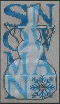 Shadow Words Snowman cross stitch chart Hinzeit - $10.80