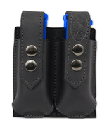 NEW Barsony Black Leather Double Magazine Pouch for CZ EAA Compact 9mm 4... - $38.99