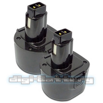 TWO BATTERIES For DEWALT 9.6V Power Tool DE9061 DE9062 DW9061 DW9062 BAT... - $42.89