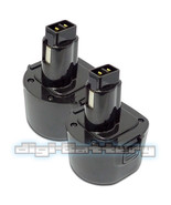 TWO BATTERIES For DEWALT 9.6V Power Tool DE9061 DE9062 DW9061 DW9062 BAT... - $42.89