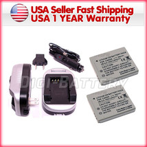 2 Battery + Charger for CANON NB-4L SD750 SD780 SD960 - $13.90