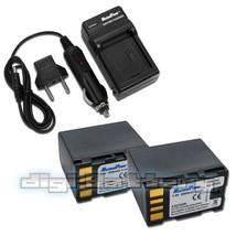 2 X Batteries + Charger Jvc Bn Vf808 Bn Vf815 Bn Vf818 Bn Vf823 Camera Battery - $37.89