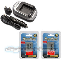 2 Battery + Charger for CANON NB-4L NB4L Powershot SD30 SD40 SD200 SD300... - $14.89