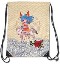 Okami Den Chibiterasu & Nanami Cinch Draw String Backpack GE11884 NEW! - $19.99