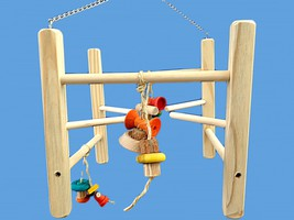 play gym-medium birds-senegal Size Swinging Gym - £15.42 GBP