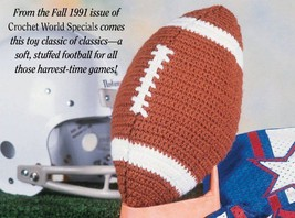 W640 Crochet PATTERN ONLY Football Toy Pattern - $7.50